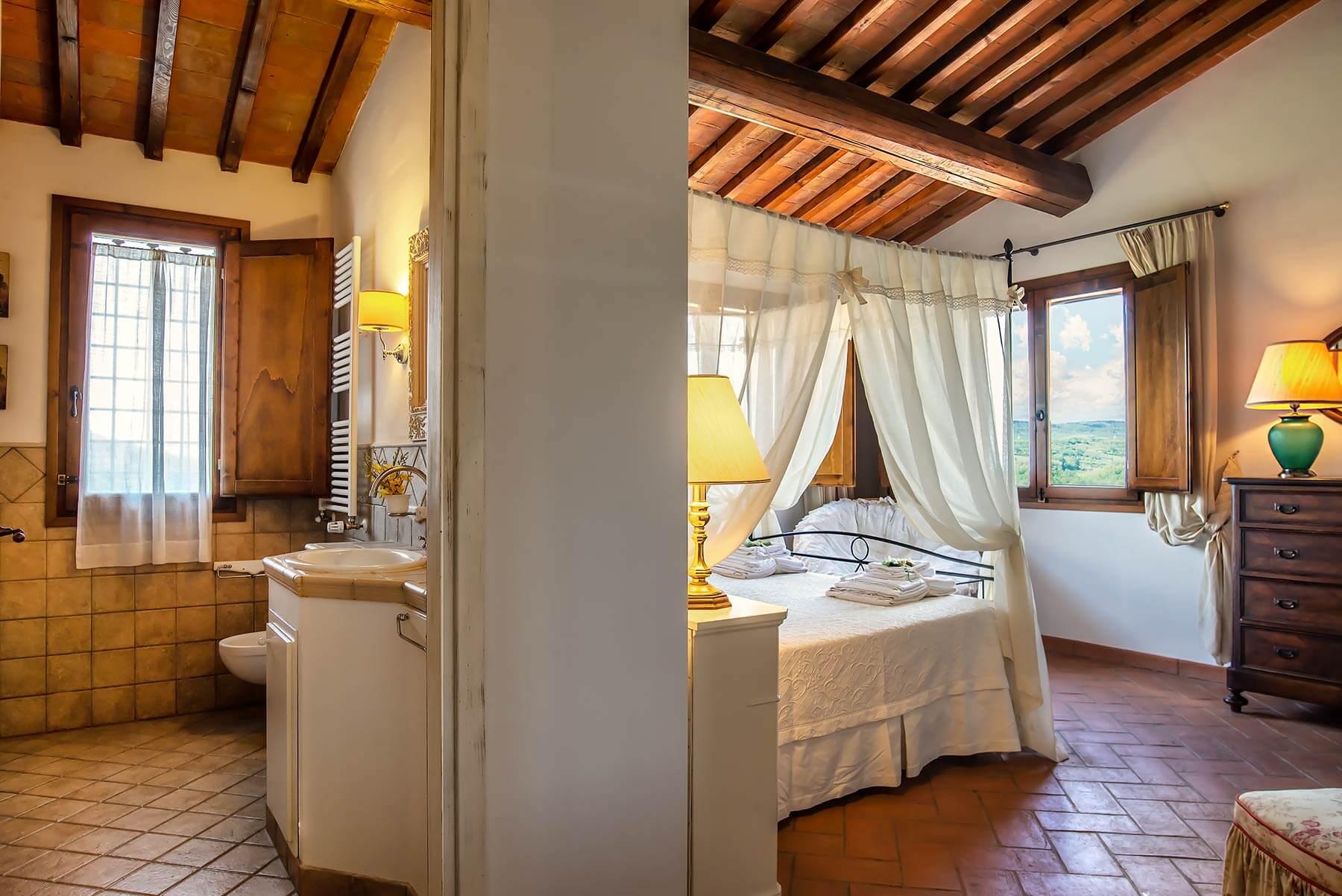 Dettaglio della Camera Blu Villa Lionella - Torrino Country Resort