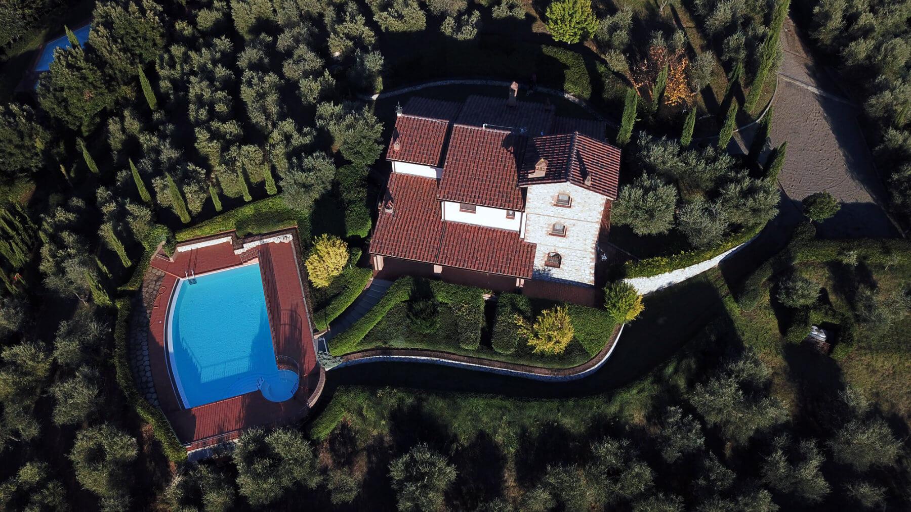 Villa Lionella dall'alto - Il Torrino Country Resort